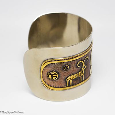 bracelet etain Filitosa coté