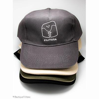 Ensemble casquettes adultes Filitosa couleur kaki noir gris foncé beige
