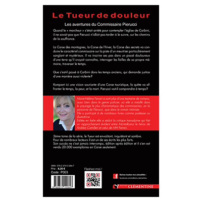 Le tueur de douleur - Saga Pierucci - Tome 3 - Marie-Hélène FERRARI verso