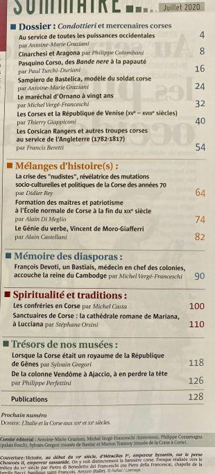 sommaire storia corsa n°5